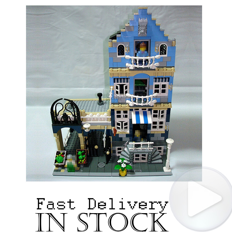 Lepin 15007 Market Street Street View Creator Architecture Model Building Block Set Bricks Kits Compitable with 10190 Toys Kids a toy a dream lepin 15008 2462pcs city street creator green grocer model building kits blocks bricks compatible 10185