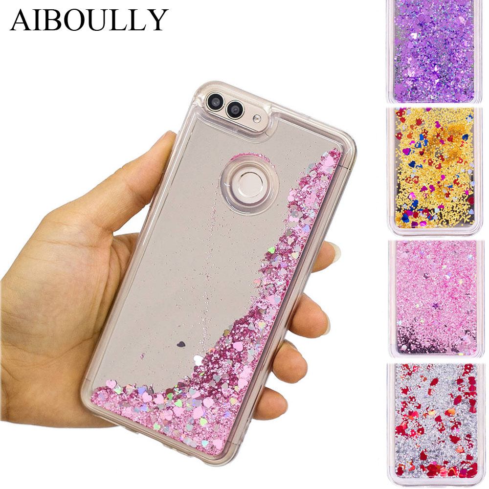 US $3 65 13% OFF|Quicksand Cases For HUAWEI P Smart FIG LX1 PSmart Shinee  Liquid Sand Covers For HUAWEI P Smart 32GB 64GB Cases Mirror Housing-in
