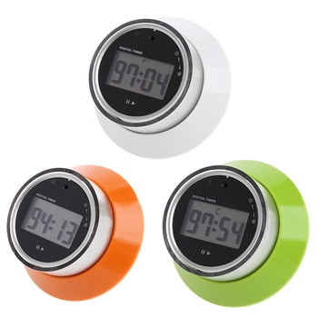 1 pcs Rodada Magnetic LCD Digital Kitchen Timer Portátil Despertador Contagem Regressiva Timer de Cozinha Ferramenta MAY02_30