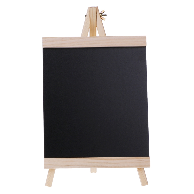 Large 20cmx21.5cm  Desktop Message Blackboard Easel Chalkboard Kids Wood Writing Boards Collapsible