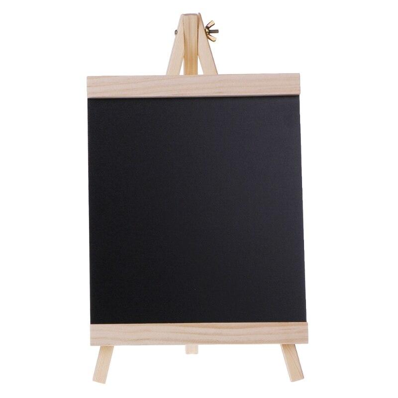 Large 20cmx21.5cm  Desktop Message Blackboard Easel Chalkboard Kids Wood Writing Boards Collapsible
