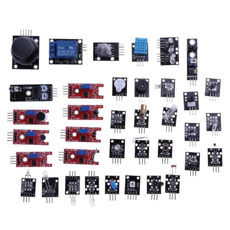 37 Pcs Sensor Module Kits for Raspberry PI Arduino UNO R3 Mega2560 Mega328 with Plastic Box
