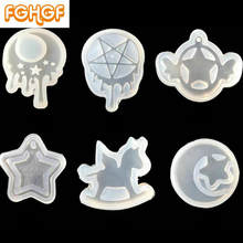 Adorable Cartoon Sailor Girl Pendant Silicone Molds UV Epoxy Resin Craft Flatback Jewelry Accessory DIY Moon Star Mould(China)