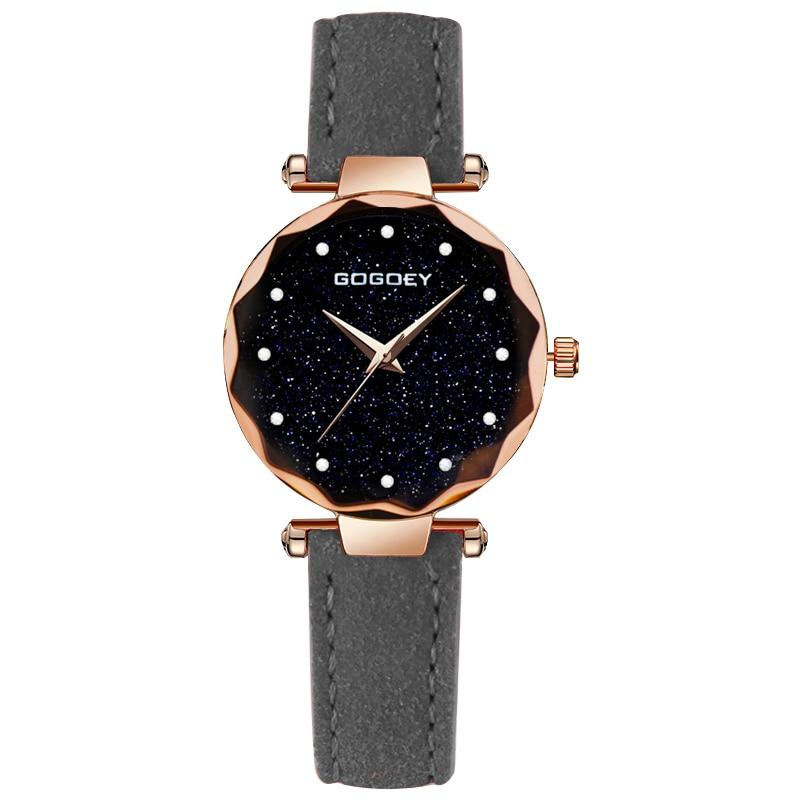 relojes mujer 18 Luxury Brand Gogoey Women Watches Personality romantic starry sky Wrist Watch Rhinestone Design Ladies Clock 21