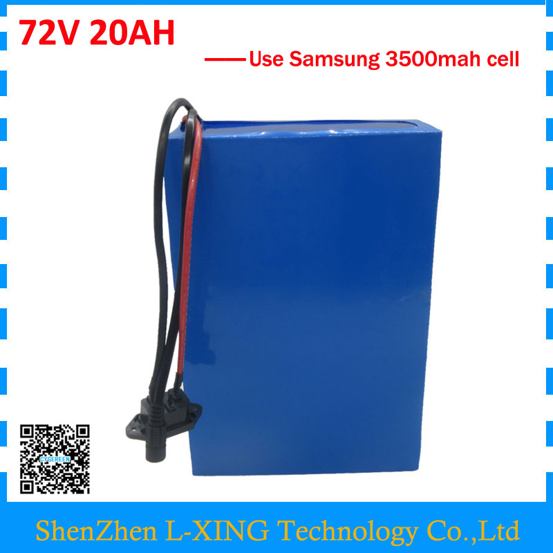 Free customs fee 72V 20AH scooter battery 72V 21AH Lithium battery pack use samsung 3500mah cell 40A BMS 2A Charger free customs duty 1000w 48v battery pack 48v 24ah lithium battery 48v ebike battery with 30a bms use samsung 3000mah cell