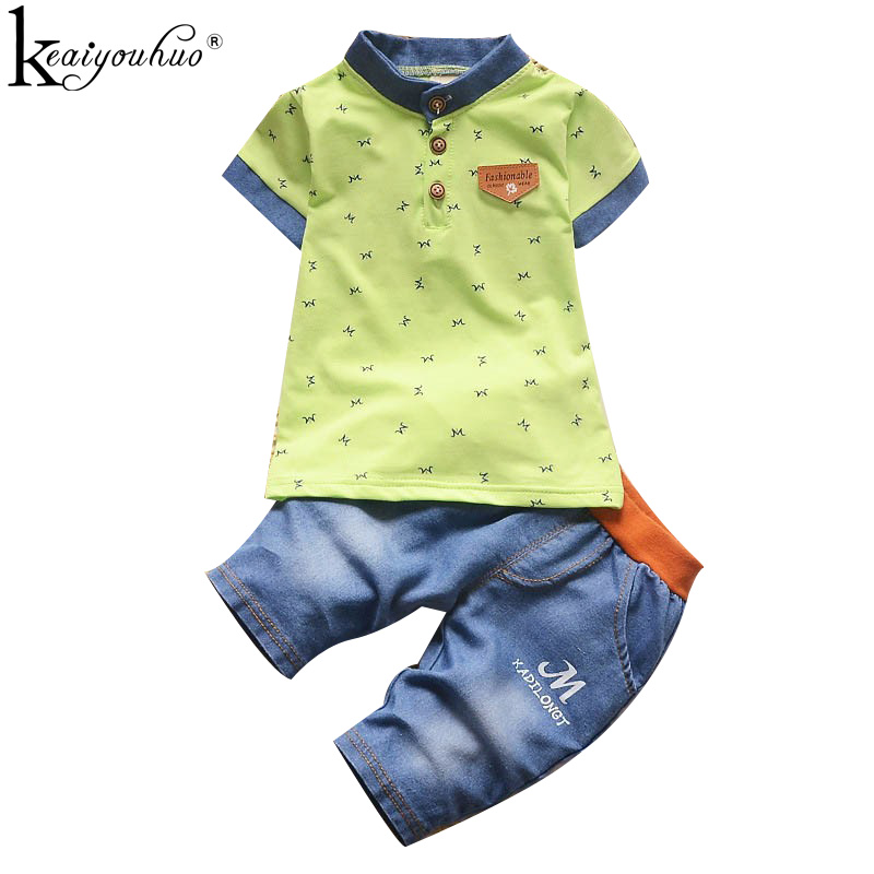 KEAIYOUHUO 2017 Summer Clothes Sets Boy Children Clothing