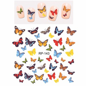 Image 2 - Uprettego Nail Beauty Nail Sticker Water Decal Slider Cartoon Leuke Vlinder Insect RP139 144