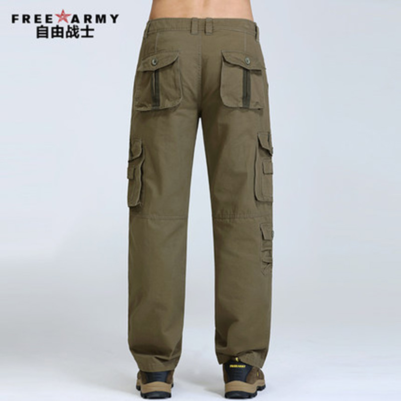 Plus Size Cargo Pants Male Casual Multi Pocket Pant Pants Men Full Length Men's Joggers Army Style Winter Trousers Man Mk76121