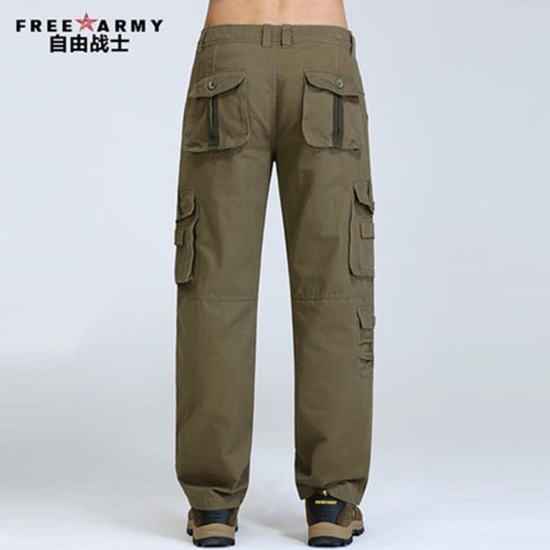 Plus veličine teretne hlače Muška Casual više džep hlače hlače Muškarci pune duljine muške Joggers vojska stilu zimske hlače čovjek Mk76121