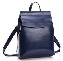 genuine leather Backpack  Cowhide mochila  shengdilu brand 2016 new women shoulder bag school bag High-end free shipping