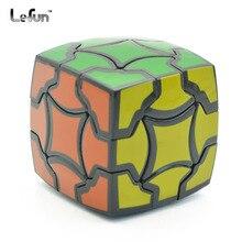 Магический цветок 3x3x3 скоростной магический куб Твист Головоломка Игрушка Головоломка 3D IQ игра гладкая 3x3 неровная черная 54 мм странная форма ABS