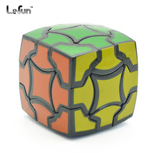 Magische Bloem 3x3x3 Speed Magic Cube Twist Puzzel Toy Brain Teaser 3D IQ Game Glad 3x3 Onregelmatige Zwart 54mm Vreemde Vorm ABS