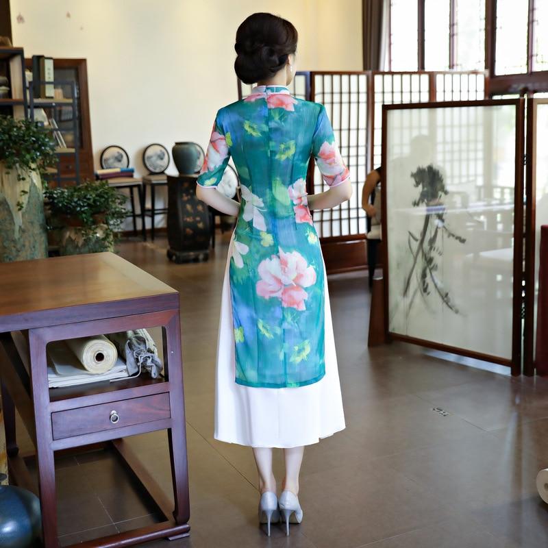 Robe Mince Élégantes M Rayonne Arrivée Traditionnels Fleur Cheongsam xxxl Femmes Chinois Nouveauté De Dames Taille Long Nouvelle Sexy 1116 Qipao qFIp7wYq
