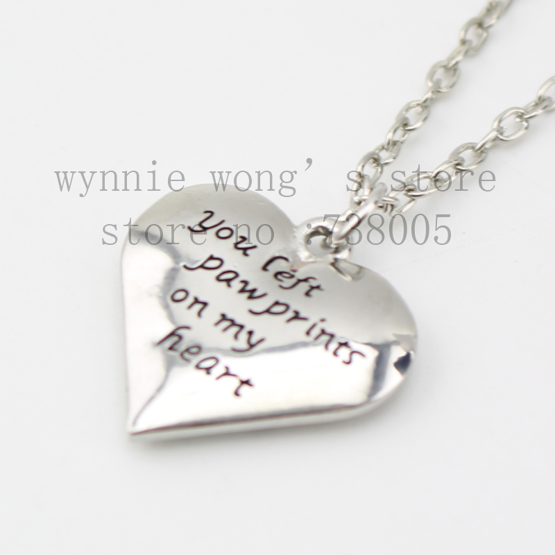 2015 new pet memorial heart necklace loss of pet necklace you left 2015 new pet memorial heart necklace loss of pet necklace you left paw prints on my heart necklace wholesale jewelry in pendant necklaces from jewelry aloadofball Image collections