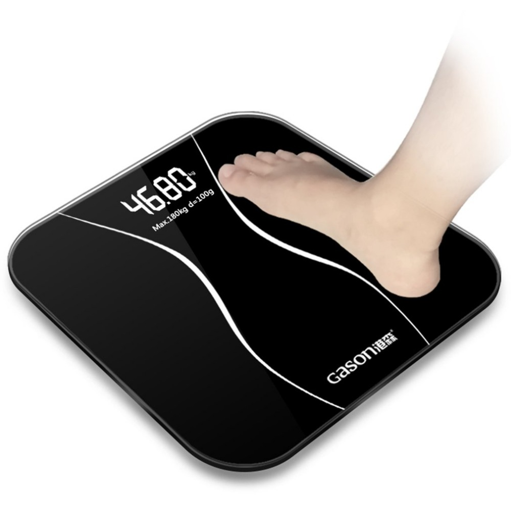 GASON A2 Bathroom Body Scales Glass Smart Household Electronic Digital Floor Weight Balance Bariatric LCD Display 180KG Hot New