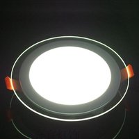 Free Shipping High Quality 18W LED Light Glass Panel Living Room Kitchen Bathroom Store Recessed Ceiling