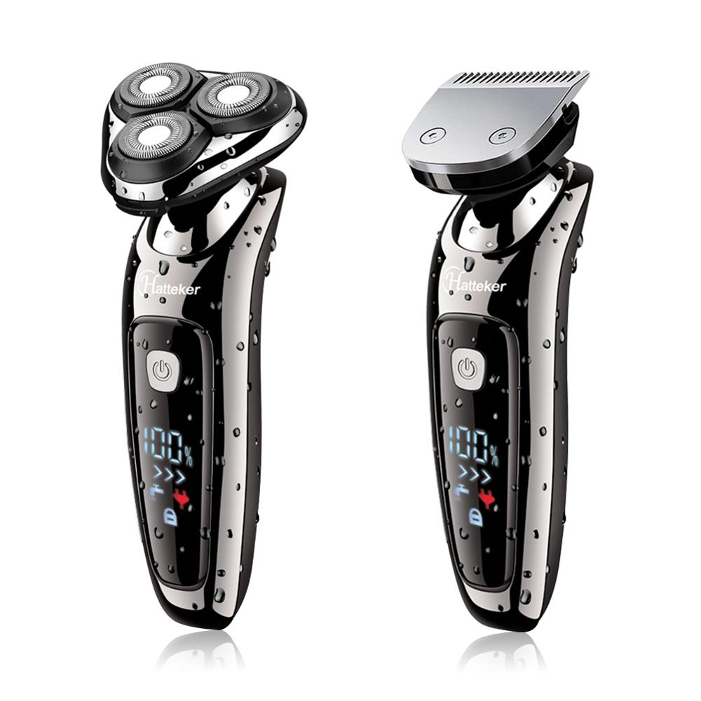 HATTEKER electric shaver facial electric razor for men 2in1 grooming kit usb rechargeable male beard shaving machine 9598A-in Electric Shavers from Home Appliances