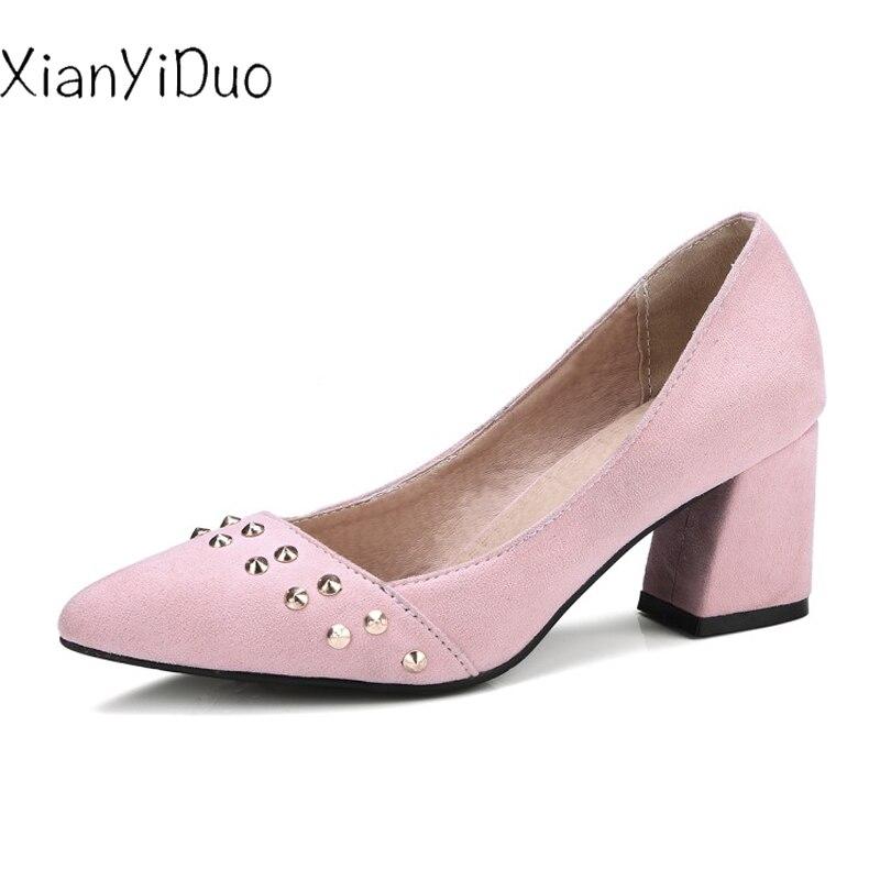 Hauts 4 Noir Bout Pompes Slingbacks 34 Pointu Taille aut Rivet rose Rose Chaussures 7598 La 47 2018 Femmes Printemps Plus Talons Xianyiduo wHFqzF