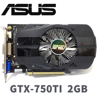 Asus GTX 750TI OC 2GB GTX750TI GTX 750TI 2G D5 DDR5 128 Bit PC Desktop Graphics Cards PCI Express 3.0 computer Graphics Cards