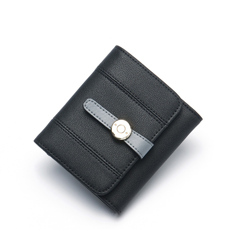 New Korean version of the tide small wallet leather folding wallet female short paragraph leather simple coin purse 2016 new arrival women s luxury jacket short paragraph korean version nagymaros collar female was thin tide coat mz575 page 4 page 1