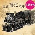 Zakka bontique antiguo tren de Vapor de hierro de acero de metal retro creativo adorno casero hierro locomotora modelo de coche de juguete decoración del hogar