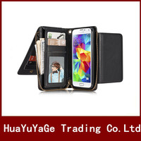 Phone Cases vintage PU Leather zipper Wallet Lanyard Card case separate Back cover for Samsung Galaxy S8 Plus S5 I9600 Note 5
