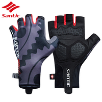Santic Men Cycling Gloves Summer 2018 Road Bicycle Gloves Mittens Half Finger Bike Gloves Bicicleta Guantes Luvas Ciclismo