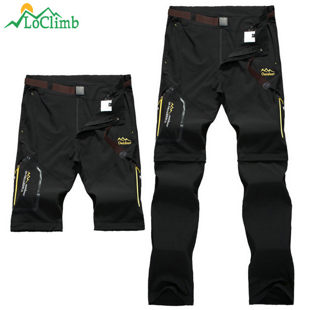LoClimb Men Women Stretch Waterproof Camping Hiking Pants Outdoor Sport Trousers Trekking Mountain Climbing Fishing Pants,AM051