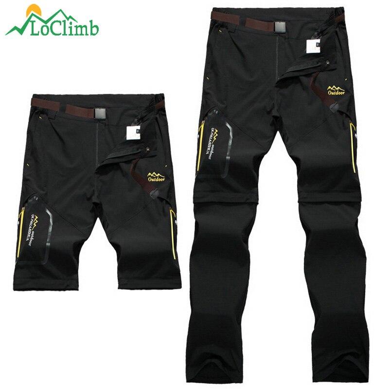 LoClimb Homens Mulheres Esticar Calças Esportivas Ao Ar Livre de Acampamento Caminhadas Trekking Alpinismo À Prova D' Água Calças De Pesca, AM051