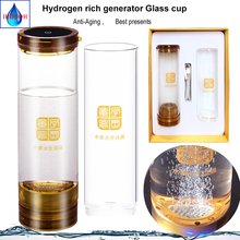 Hydrogen rich water cup IHOOOH factory outlet Anti-Aging H2 generator bottle 600ml Wireless transmission