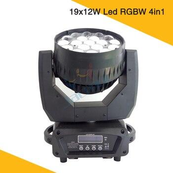 19x12 W Led Zoom de lavado de haz de luz cabeza móvil 4 en 1 Osram RGBW Led Zoom luz de cabeza móvil arandela