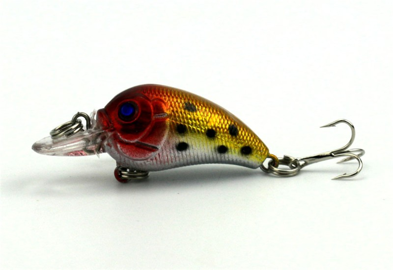 1x 4.5cm 4.2g Mini Fishing Lures Crank Baits 3d Fish Eye Simulation Minnow Crankbait Hard Plastic Laser Lure Bait Low Price (13)