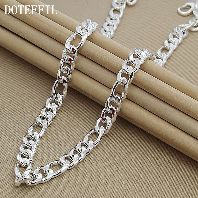 Buy 22 Inch Men Necklace 925 Sterling Silver Fashion Statement Necklace  Fine Jewelry Free Shipping Online 9d5a79536bc2