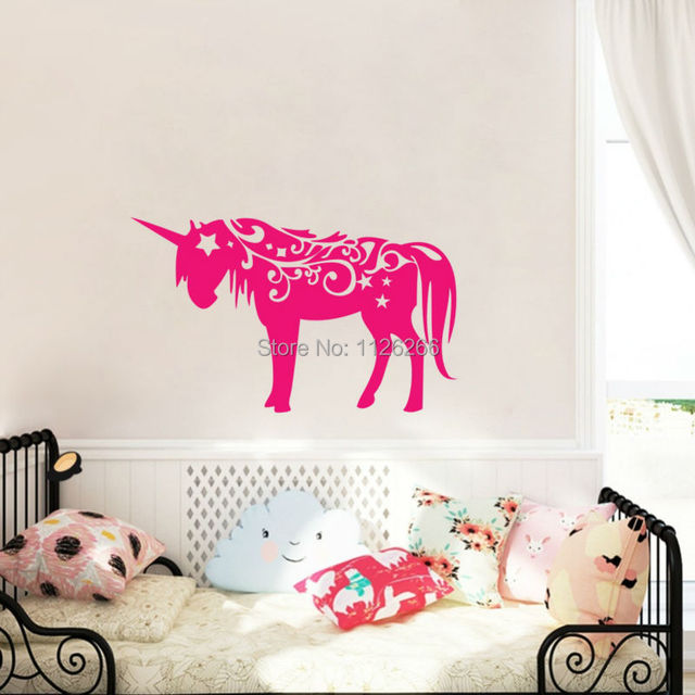 Magical Unicorn Vinyl Wall Sticker Animal Interior Design Sticker