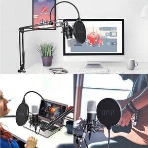 Image 2 - UHURU USB Podcast kondenser mikrofon 192kHZ/24bit profesyonel PC akış kardioid mikrofon kiti Youtube dizüstü bilgisayar Karaoke