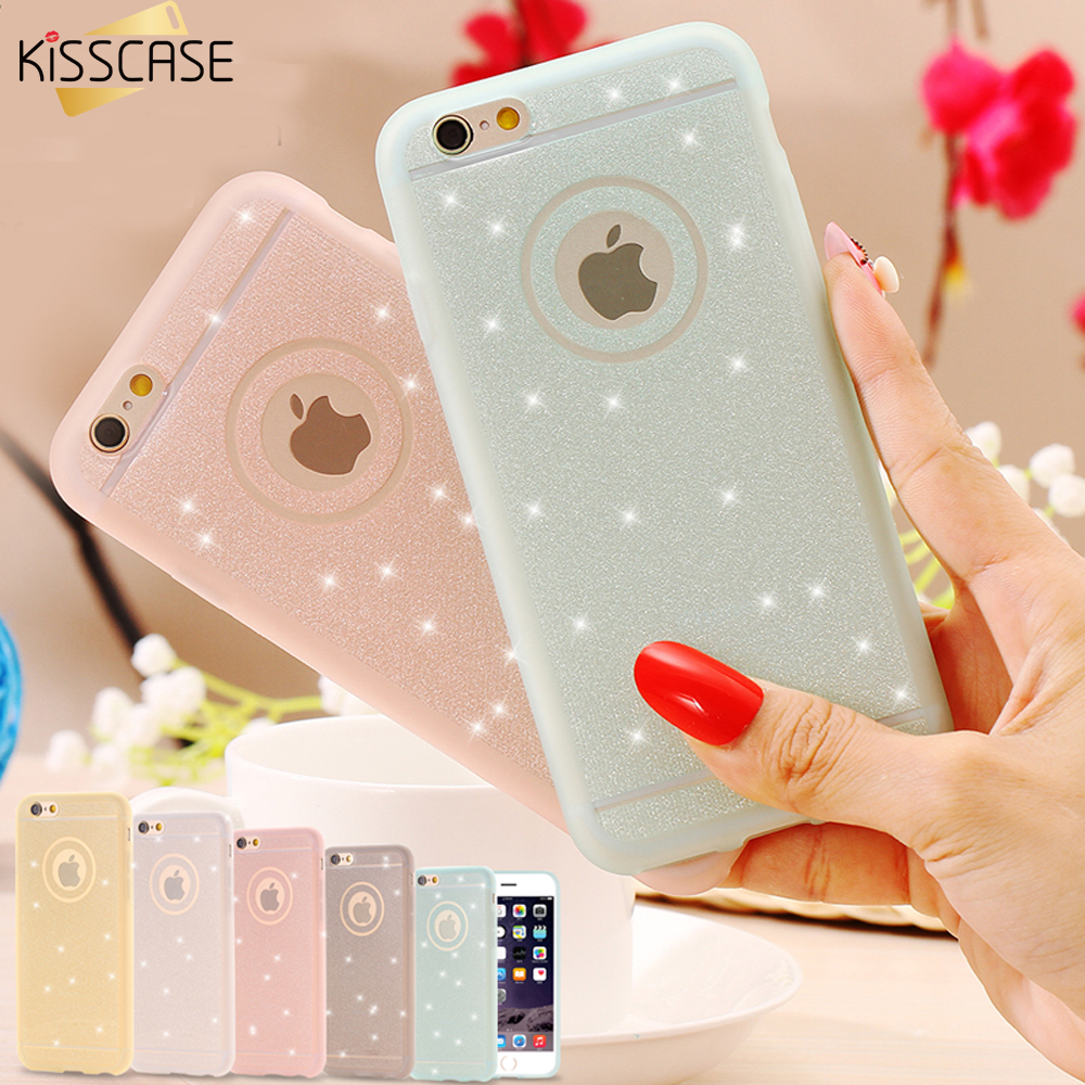 KISSCASE Soft TPU Bling Diamond Back Cover For Apple iPhone 5s SE 6 6S Plus Case Matte Silicon Phone Bags Shell Funda Coque