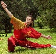 Fighting clothing tai chi clothing short-sleeve performance wear Moring Exercise Chinese kungfu costume ropa china