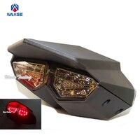 Black R6 Style Integrated Led Taillight Tail Brake Turn Signal Light Smoke For 2009 2015 YAMAHA