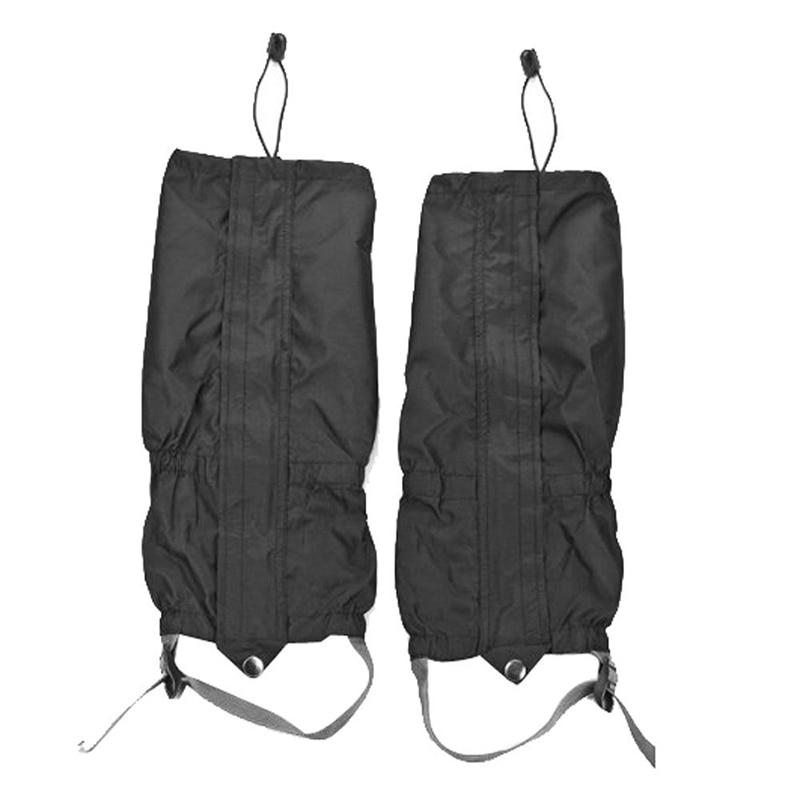 Outdoor Waterproof 2pcs Camping Hiking Climbing Hunting Snow Protect Legging Gaiters Travel Kits Black Color