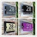 Индивидуальные Прозрачные Акриловые таблички с номером дома  таблички для вывесок дома с виниловой пленкой и алюминиевой пластиковой подл...