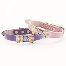 Pearl Bow Leather Collar