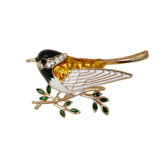8911f31d2 OneckOha Fashion Jewelry Enameled Bird Swallow Brooch Pin Cute Animal Pin  Women's Jewelry Brooches
