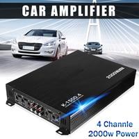 2000W 4 Channel Car Amplifier Speaker Vehicle Auto Audio Amplifier Power Stereo Amp Auto Audio Power Amplifier Player DC 12V