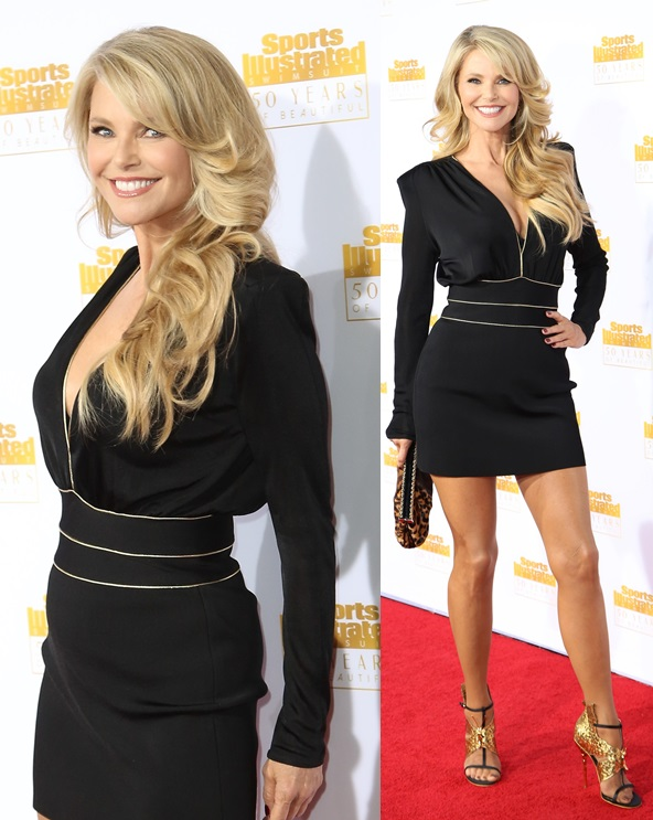 Christie Brinkley Sizzling In Black And Gold At The 50th Anniversary