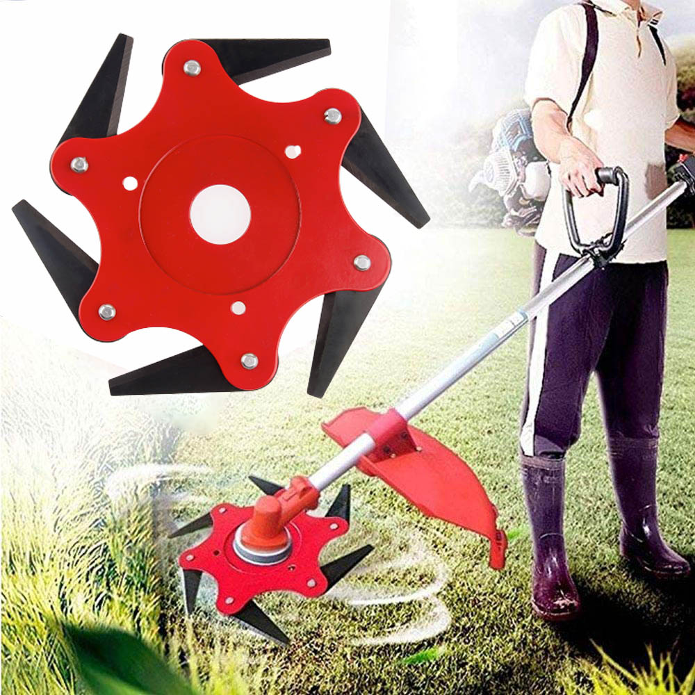 2019 NEWEST 3/6 Teeth Brush Cutter Blade Garden Grass Trimmer Head Trimmer Grass Cutter Metal Blades Trimmer Head For Lawn Mower