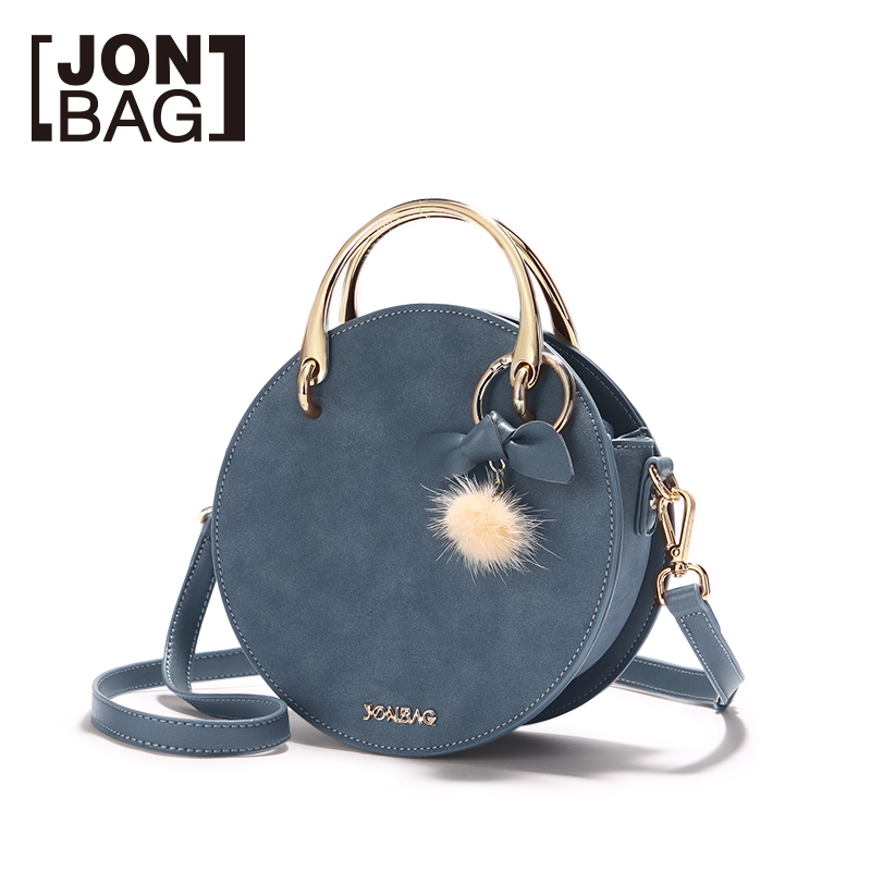 JONBAG small bag 2019 new fashion all-match Korean version autumn and winter hand bill of lading shoulder round bag lovely cro