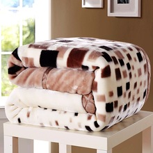 цены Soft Winter Quilt Blanket For Bed Printed Raschel Mink Throw Twin Queen Size Single Double Bed Fluffy Warm Fat Thick Blankets