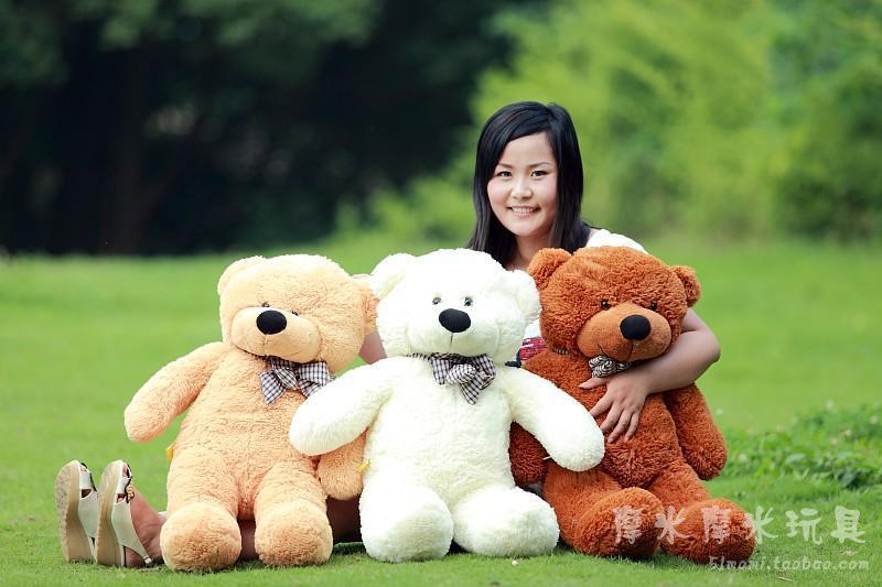 Stuffed animal 80 cm bowtie Teddy bear plush toy bear throw pillow doll w3356 stuffed animal 160cm dark brown teddy bear plush toy bowtie bear doll throw pillow gift w3514