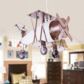 Modern Minimalist Antique Iron Wood Fashion Led pendant lights Lamps Children 's Room Aircraft vintage lamp Bedroom Eye