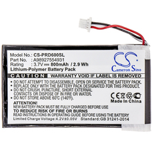Cameron Sino 800mAh Battery For Sony PRS-600, PRS-600/RC,PRS-600/BC (P/N A98927554931) new покрывало prs 143